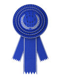 Blue Award Ribbon Stock Images