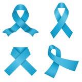 Blue awareness ribbons. Vector illustration Royalty Free Stock Photo