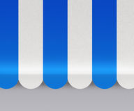 Blue Awnings Background Royalty Free Stock Image