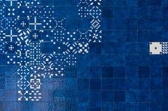 Blue azulejos on the building's exterior Stock Photos