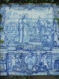 Blue azulejos fresco Royalty Free Stock Photography