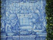 Blue azulejos fresco Stock Photos