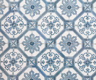Blue azulejos, old tiles in the Old Town of Lisbon, Portugal Royalty Free Stock Photos