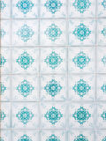 Blue azulejos, old tiles in the Old Town of Lisbon, Portugal Royalty Free Stock Photography