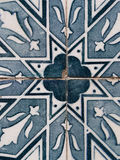 Blue azulejos, old tiles in the Old Town of Lisbon, Portugal Stock Images