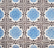 Blue azulejos, old tiles in the Old Town of Lisbon, Portugal stock photos