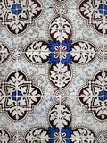 Blue Azulejos Porto. Small earthenware tiles painted and hand-decorated, the Azulejos is an ancient art in Portugal. It serves as decoration (inside and outside Stock Photo