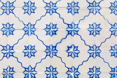 Blue azulejos - tiles from Lisbon Stock Photo
