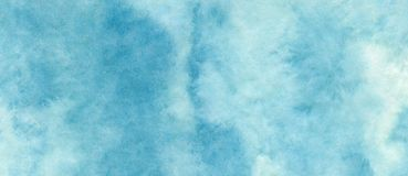 Blue azure abstract watercolor background for textures backgrounds and web banners design.  stock illustration
