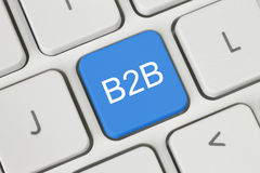 Blue B2B (business to business) button Royalty Free Stock Photo