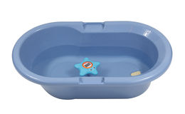 Blue baby bathtub Stock Photo