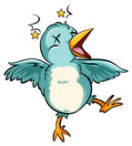Blue baby bird Stock Photography