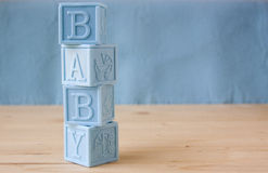 Blue Baby Blocks Royalty Free Stock Photography