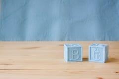 Blue Baby Blocks Stock Image