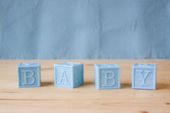 Blue Baby Blocks Royalty Free Stock Photo