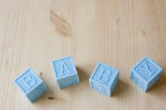 Blue Baby Blocks Stock Images