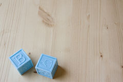 Blue Baby Blocks Royalty Free Stock Images