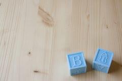 Blue Baby Blocks Stock Photos