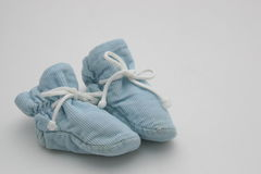 Blue Baby Booties Stock Photos