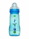 Blue baby bottle. Stock Image