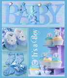 Blue Baby Boy Collage Royalty Free Stock Photography