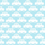 Blue baby boy seamless background with cartoon cars Royalty Free Stock Photography
