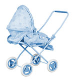 Blue Baby Carriage Stock Image