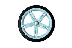Blue Baby Cart Wheel isolated on white background Royalty Free Stock Photos