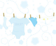 Blue baby designs Stock Images
