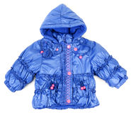Blue baby jacket insulated Stock Photography
