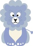 Blue baby lion. Vector illustration of a blue baby lion Stock Photography