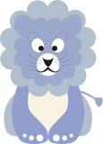 Blue baby lion. Vector illustration of a blue baby lion royalty free illustration