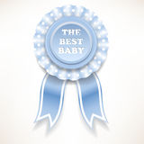 Blue baby order of the white polka dots. vector illustration Royalty Free Stock Photo
