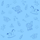 Blue baby pattern Stock Image