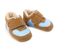Blue baby shoes Royalty Free Stock Images