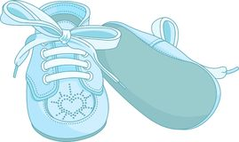 Blue baby shoes Stock Photo