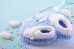 Blue Baby Shower Nursery Background Royalty Free Stock Images