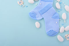 Blue Baby Shower Nursery Background Stock Photography