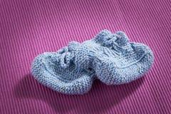 Blue baby socks royalty free stock image
