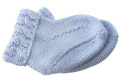 Blue baby socks Stock Photo