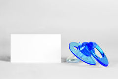 Blue baby soother Royalty Free Stock Photos
