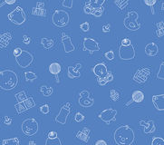 Blue baby wallpaper Royalty Free Stock Photo