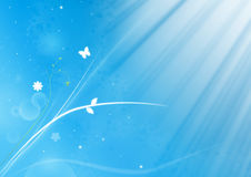 Blue background. Light trendy floral decorative background royalty free illustration