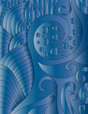 Blue background. With shapes and curls Royalty Free Stock Photography