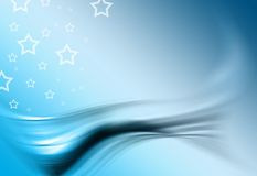 Blue background. Blue backround with stars and flowing texture stock illustration