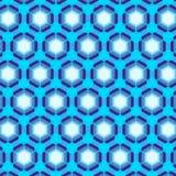 Seamless geometric pattern blue stock illustration
