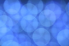 Blue background. Blue abstract background with effect bokeh Stock Images