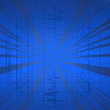 Blue background. Hi tech blue background, abstract art Stock Photo