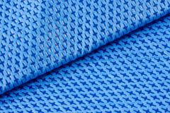 Blue fabric background Royalty Free Stock Images