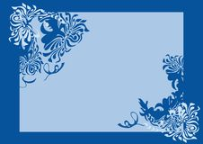 Blue background. With a flower pattern Stock Image